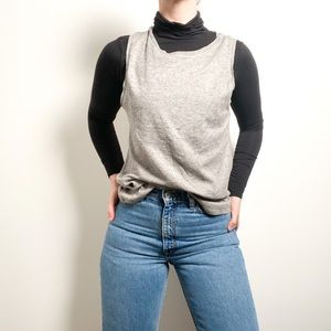 NWT Zara Gray Knitted Sweater Vest